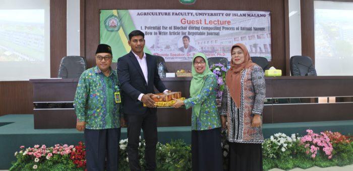 Fakultas Pertanian Mengadakan Guest Lecture