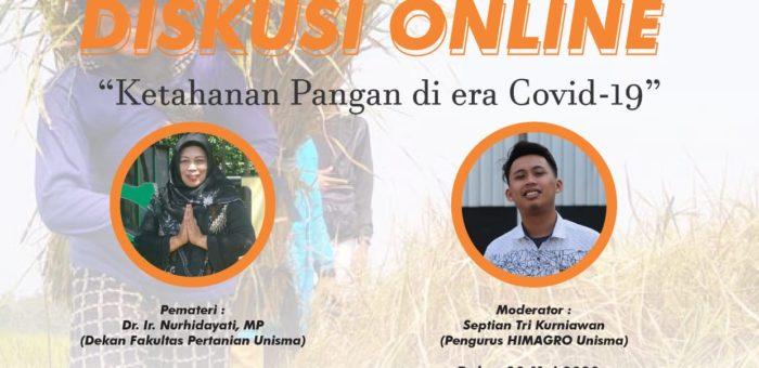 Diskusi Online Ketahanan Pangan di Era Covid-19
