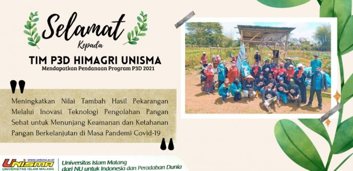 Selamat!! Tim P3D Himagri UNISMA mendapatkan pendanaan program P3D 2021