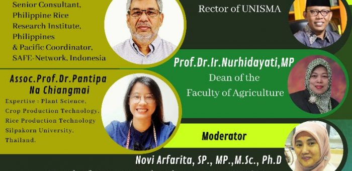 """International Webinar: """"Strategies to Manage Rice Production in Limited Condition"""""""