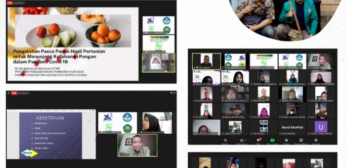 Tim P3D Himagri Unisma Gelar Webinar Pengolahan Hasil Pasca Panen Guna Menunjang Ketahanan Pangan di Masa Pandemi Covid-19